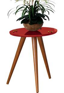 Mesa Lateral Sorelle Vermelho Pã©S Palito - Vermelho - Dafiti