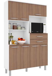 Cozinha Compacta Barcelona 7 Pt 2 Gv Branco E Montana