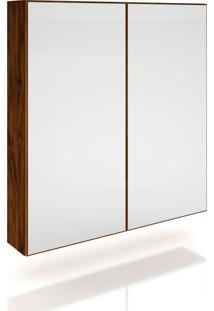 Armário 2 Ptas Com Espelho Nobre Móveis Dalla Costa Marrom