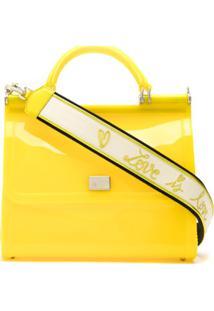 Dolce & Gabbana Bolsa Tote Sicily Média - Amarelo
