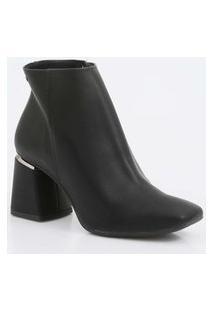 Bota Feminina Ankle Boot Salto Grosso Dakota
