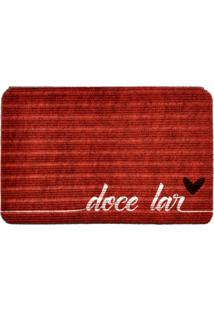 Capacho Carpet Doce Lar Vermelho Único Love Decor