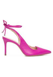 Scarpin Lace Up - Rosa