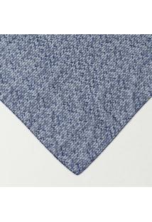 Lenço Abstrato - Azul Marinho & Branco - Folhahering