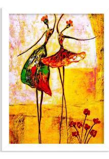 Quadro Decorativo Ballet Branco - Grande