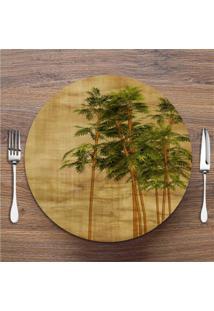 Sousplat Bambu Folhas 6 Peças
