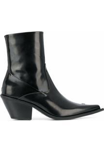 Misbhv Ankle Boot Bico Fino - Preto
