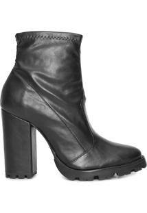 Bota Feminina Sock Tratorado - Preto