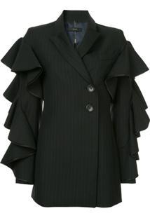 Ellery Babitz Frill Sleeve Jacket - Preto