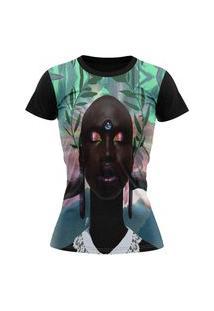 Camiseta Feminina Lucinoze Camisetas Manga Curta Black Preta
