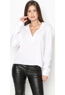 Camisa Alongada- Branca- Guessguess