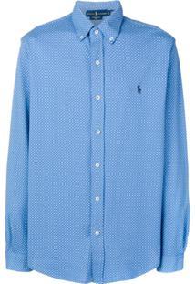 Polo Ralph Lauren Camiseta De Poás Com Logo - Azul