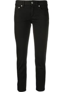 Dondup Calça Jeans Skinny Cropped - Preto