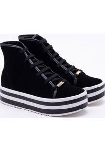 Ankle Boot Vizzano Nobuck Preta 33