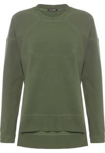 Blusa Feminina Moletom Armory Diagonal - Verde