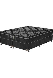 Cama Box Queen Black Romance - Probel - Preto / Prata