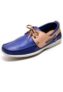 Mocassim Dockside Couro Prumirim Império Ma6002 Azul