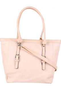 Bolsa Pagani Shopper Tote Bag Grande Feminina - Feminino-Nude