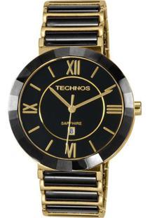 Relógio Technos Feminino Ceramic Analógico Preto 2015Bv4P - Kanui