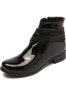 Bota Dafiti Shoes Pedraria Preta