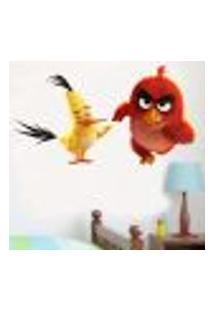 Adesivo De Parede Angry Birds Red E Chuck - Eg 75X120Cm