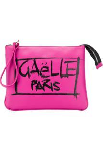 Gaelle Paris Kids Clutch Com Estampa Grafitti - Rosa