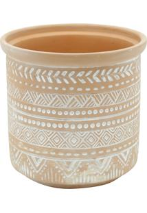 Vaso Cerâmica Terracota Fat Edge Barro Gde 16X15,5Cm