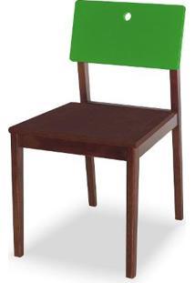 Cadeira Flip Cor Cacau Com Encosto Verde - 31133 Sun House
