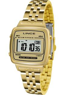 4147b05cfcd Marisa. Relógio Vidro Manual Digital Feminino Lince Dourado ...