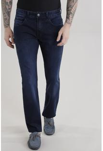 Calça Jeans Skinny Com Algodão + Sustentável Azul Escuro