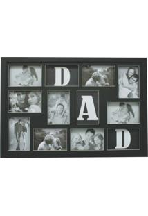 Painel Bee Collection Words Dad 9 Fotos 10X15Cm Preto Kapos