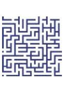 Papel De Parede Maze Navy