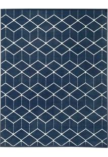 Tapete De Sala Belga Ambience Des 3 - 2,50X3,50M - Edantex - Azul - Dafiti