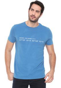 Camiseta Aramis Coordenadas Azul