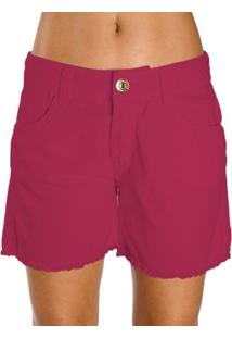 Bermuda Sarja Color Colcci Feminino - Feminino-Rosa