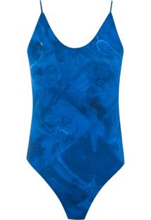 Tufi Duek Body Estampado - Azul