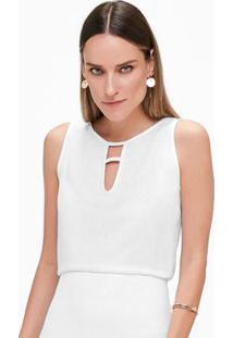 Blusa Branco Com Lurex