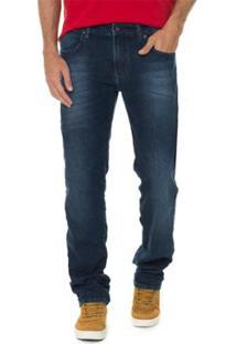 Calça Timberland Jeans Blue Straight Masculina - Masculino-Azul Escuro
