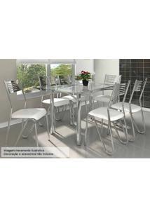 Sala De Jantar Kappesberg Elba 140Cm+6 Cadeiras Croma/Branco
