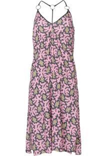 Victoria Victoria Beckham Vestido Midi Estampado - Rosa