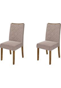 Kit 2 Cadeiras Para Sala De Jantar Golden Demolição/Pena Bege - Dj Móveis