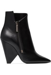 Saint Laurent Ankle Boot 'Niki 105' De Couro - Preto