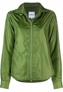 Aspesi Zipped-Up Jacket - Verde