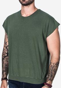 Camiseta Oversized Sleeveless Verde 101951