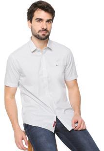 Camisa Aramis Reta Xadrez Branca/Amarela