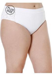 Calcinha De Biquini Plus Size Feminino Branco