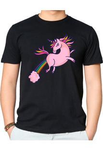 Camiseta Unicórnio Ii Geek10 - Preto