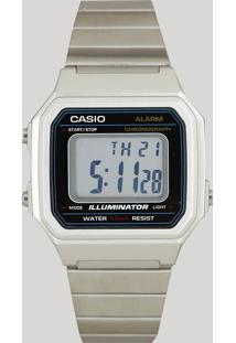Relógio Digital Casio Unissex - B650Wd1Adf Prateado - Único