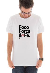 Camiseta Manga Curta Touts Café Branco