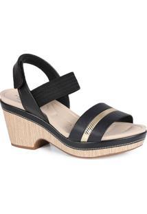 Sandália Salto Conforto Modare Elástico